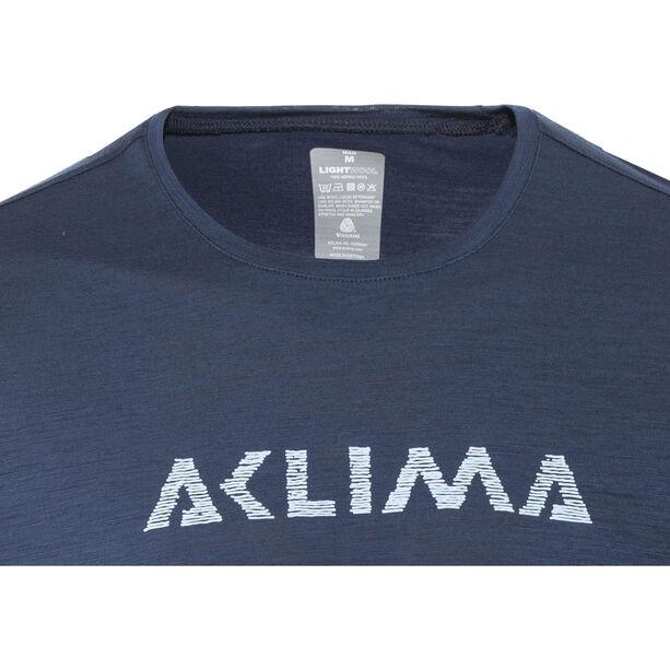 Aclima LightWool LOGO T-shirt Herr insignia blue