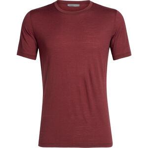 Icebreaker Tech Lite SS Crewe Shirt Herr cabernet cabernet