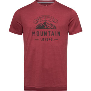 super.natural Graphic Tee Mountain Lovers Herr cabernet melange/vapor grey cabernet melange/vapor grey