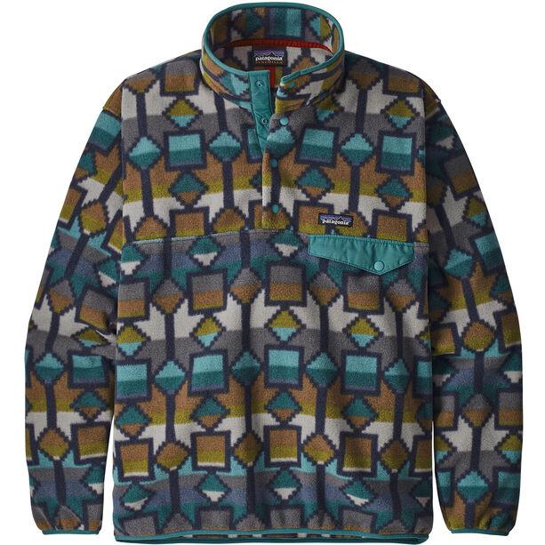Patagonia Lightweight Synchilla Snap-T Pullover Herr Cedar Mesa Big/Neo Navy