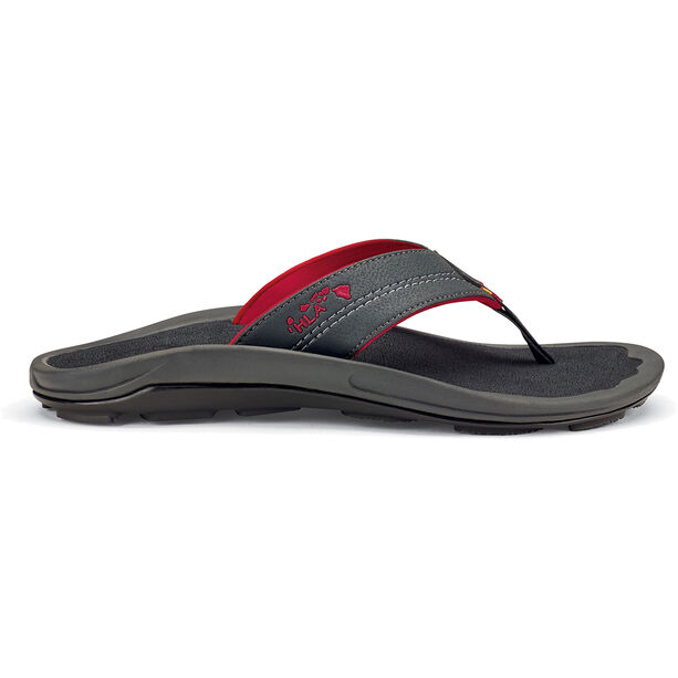 OluKai Kipi Beach Sandals Herr dark shadow/dark shadow