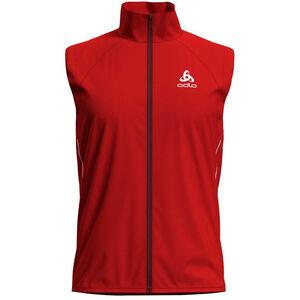 Odlo Zeroweight Windproof Warm Vest Herr fiery red fiery red