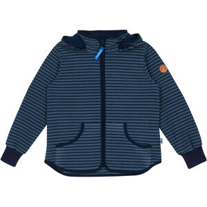 Finkid Tonttu Striped Fleece Jacket Barn blue mirage/navy blue mirage/navy
