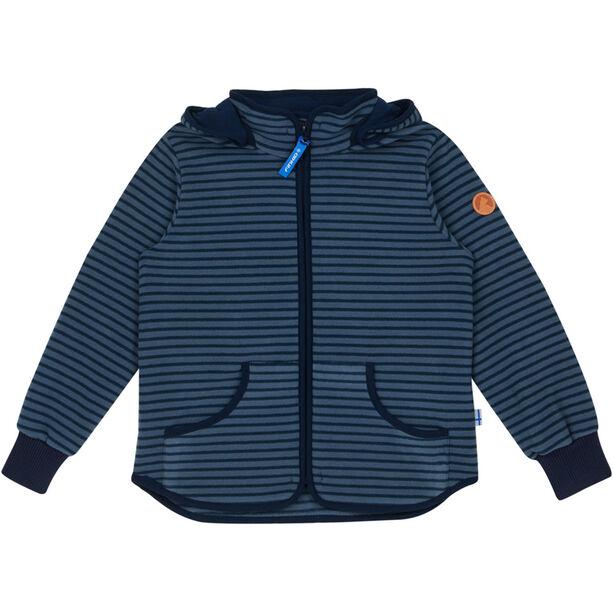 Finkid Tonttu Striped Fleece Jacket Barn blue mirage/navy