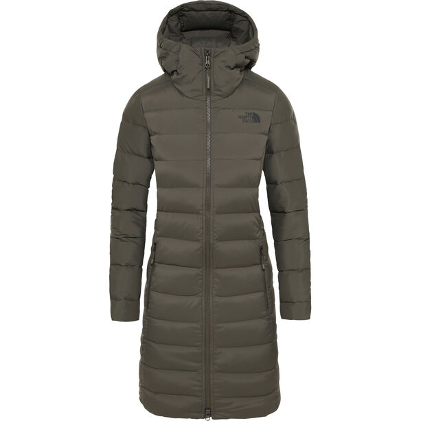 The North Face Stretch Down Parka Dam New Taupe Green