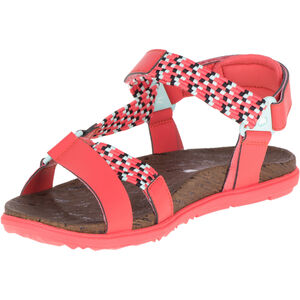 Merrell Around Town Sunvue Woven Sandals Dam hot coral hot coral