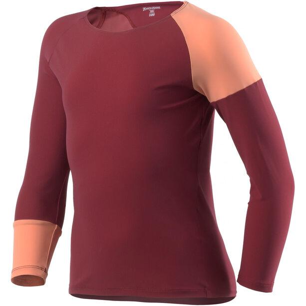 Houdini Liquid Skin Crew Shirt Barn pava red/smoofy pink