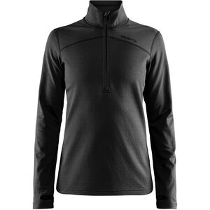 Craft Pin Half Zip Midlayer Dam black black