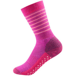 Devold Multi Medium Socks Barn fuchsiastripe fuchsiastripe