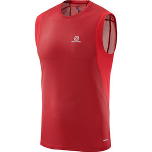 Salomon Trail Runner Sleeveless Tee Herr barbados cherry barbados cherry