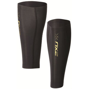 2XU Elite MCS Compression Calf Guard black/gold logo black/gold logo