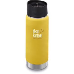 Klean Kanteen Wide Vacuum Insulated Bottle Café Cap 2.0 473ml lemon curry matt lemon curry matt