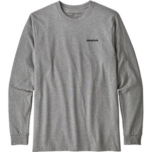 Patagonia P-6 Logo Responsibili-Tee Longsleeve Shirt Herr gravel heather gravel heather