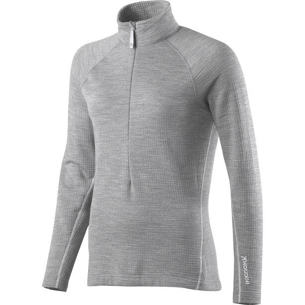 Houdini Wooler Half Zip Sweater Dam college grey