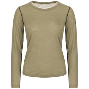 super.natural Base 140 LS Top Women Bamboo/Killer Khaki Bamboo/Killer Khaki