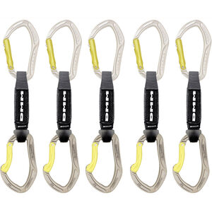 DMM Alpha Sport QD Carabiner 12cm/5 Pack silver/lime silver/lime