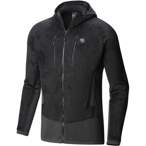 Mountain Hardwear Monkey Grid Hooded Jacket Herr black black