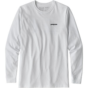 Patagonia P-6 Logo Responsibili-Tee Longsleeve Shirt Herr white white