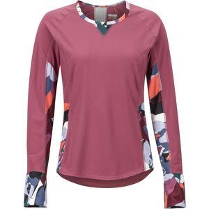 Marmot Lana Lightweight LS Crew Shirt Dam dry rose/multi pop camo dry rose/multi pop camo