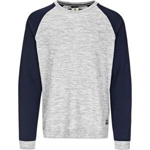 super.natural Essential Raglan Crew Sweater Herr ash melange/navy blazer ash melange/navy blazer