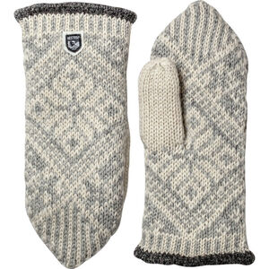 Hestra Nordic Wool Mittens grey/off-white grey/off-white