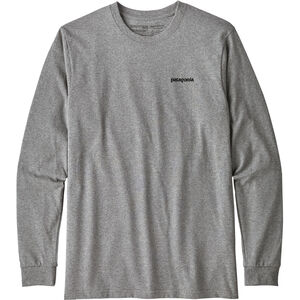 Patagonia P-6 Logo Responsibili-Tee Longsleeve Shirt Herr gravel heather gravel heather