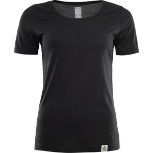 Aclima LightWool T-shirt Dam jet black jet black