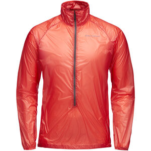 Black Diamond Deploy Wind Shell Jacket Herr hyper red hyper red
