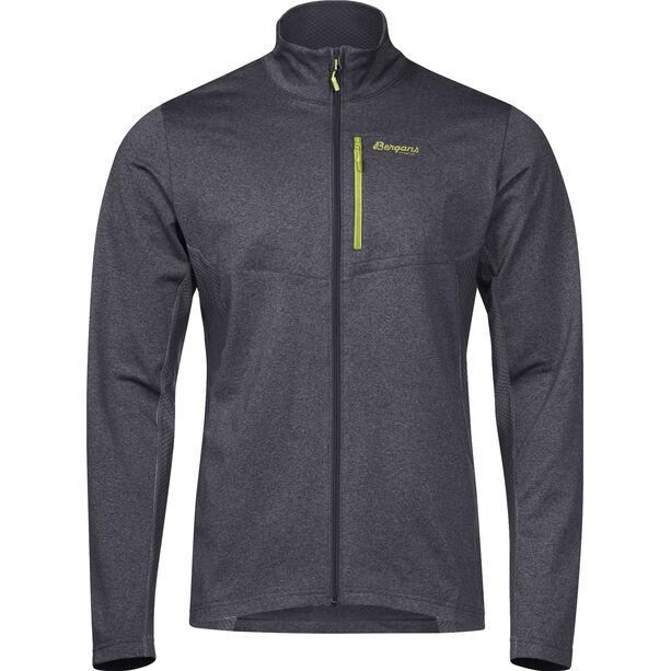 Bergans Fløyen Fleece Jacket Herr solid dark grey/sprout green