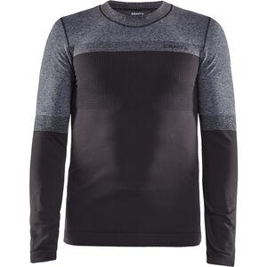 Craft Warm Intensity Crew Neck LS Shirt Herr apshalt/dark grey melange apshalt/dark grey melange