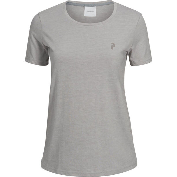 Peak Performance Track Tee Dam med grey mel