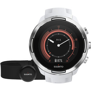 Suunto 9 GPS Mulitsport Watch with HR Belt baro white baro white