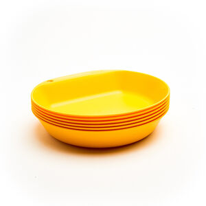 Wildo Camper Plate Deep Set Unicolor 6x lemon lemon