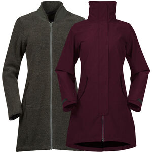 Bergans Oslo 3in1 Coat Dam Zinfan Red Melange/Solid Charcoal Melange Zinfan Red Melange/Solid Charcoal Melange