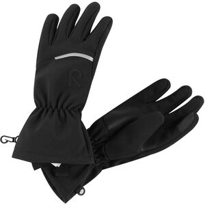 Reima Eidet Softshell Gloves Barn Black Black