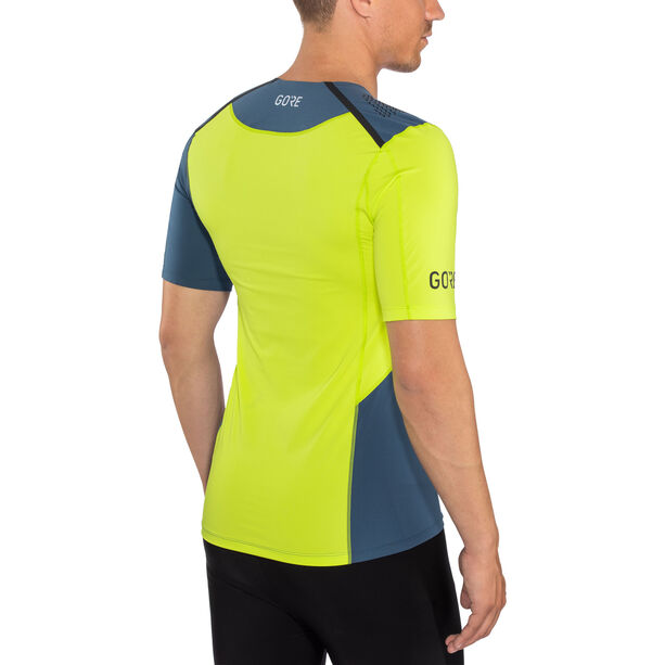 GORE WEAR R7 Shirt Herr deep water blue/citrus green