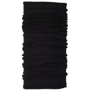 Buff Merino Wool Denim Neckwarmer black black