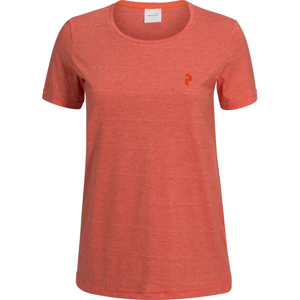 Peak Performance Track Tee Dam orange flow