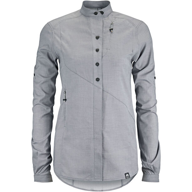 Klättermusen Lofn Shirt Dam grey melange