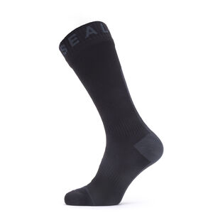 Sealskinz Waterproof All Weather Mid Socks Black/Grey Black/Grey