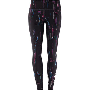 2XU Print Mid-Rise Compression Tights Dam frequency boysenberry/white frequency boysenberry/white