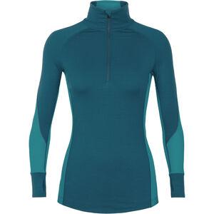 Icebreaker 260 Winterzone LS Half Zip Shirt Dam kingfisher/arctic teal/prism kingfisher/arctic teal/prism