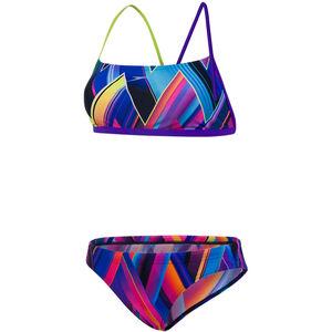 speedo Fizzbounce 2 Piece Crossback Bikini Dam violet/limepunch/turquoise violet/limepunch/turquoise