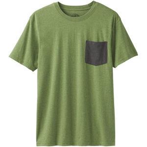Prana Pocket Shortsleeve T-Shirt Herr Matcha Heather Matcha Heather