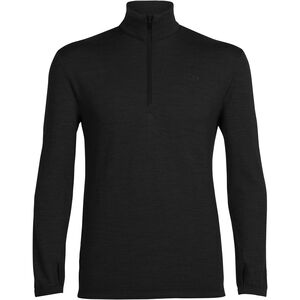 Icebreaker Original LS Half Zip Shirt Herr Black Black