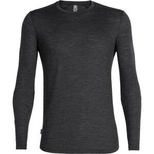 Icebreaker Sphere LS Crewe Shirt Herr black heather black heather