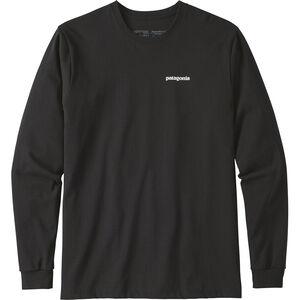 Patagonia P-6 Logo Responsibili-Tee Longsleeve Shirt Herr black black