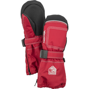 Hestra Baby Zip Long Mittens Barn red red