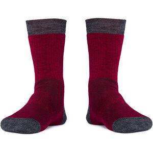 Röjk Hiker Merino Socks cranberry cranberry