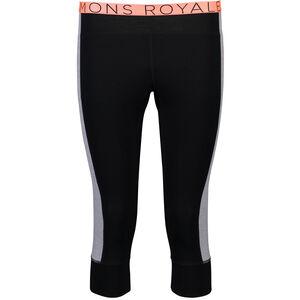 Mons Royale Alagna 3/4 Leggings Dam black/grey marl black/grey marl